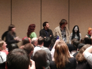 Misha Collins crashed the fan panel!