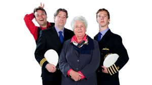 The cast of Cabin Pressure