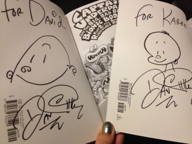 Our signed books :)