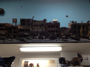 A horrible pic of a bit of their diorama