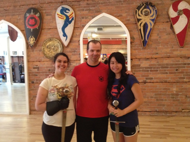My friend Ama and I with our instructor Greg :)