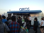 Oikos giving out free yogurt