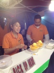 Finishing off our Mango shaved ice
