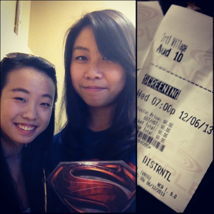 The ticket being the Superman logo I'm holding up :P