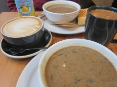 Portabello mushroom soup