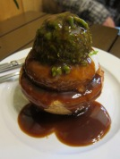 This pie was amazing. Mashed potatoes and mushy peas with a healthy dose of gravy.