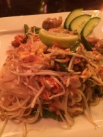 Pad thai cooked without peanuts so I wouldn't die
