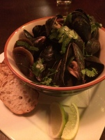 Mussles in thai coconut soup. I wanted to take a vat of that soup with me
