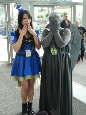 A picture of me with a weeping angel I found wandering around