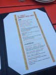 The patio drinks menu