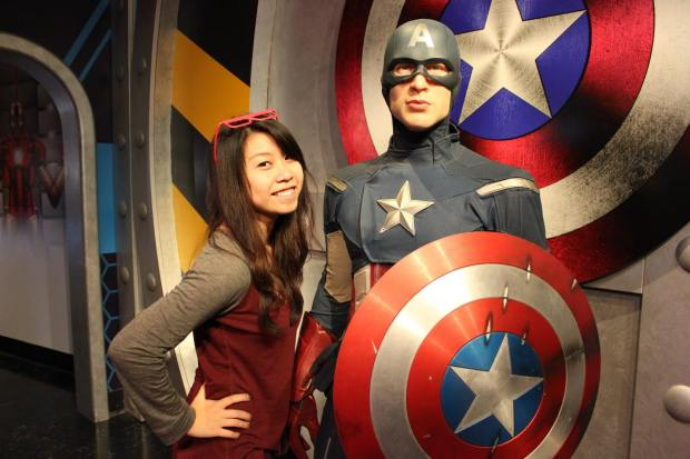 Madame Tussauds shenanigans. They had a Marvel exhibit!
