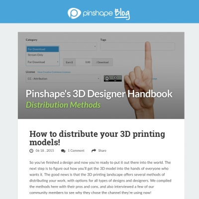 How to distribute your 3d models