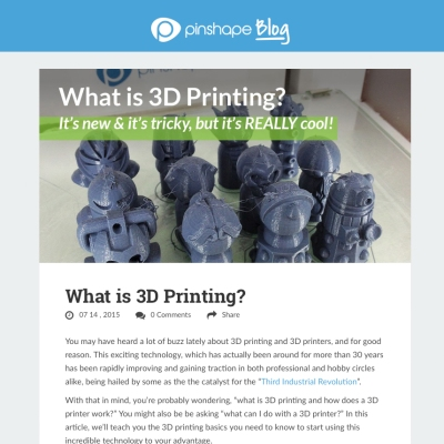 What is 3d printing thumbnail