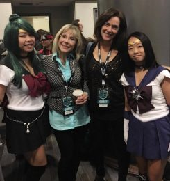 The voices of Sailor Moon and Sailor Jupiter!