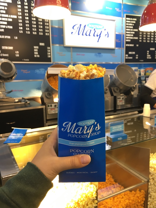 If you love Chicago Mix popcorn, you'll love Mary's Quebec style popcorn which uses cheese + maple syrup)