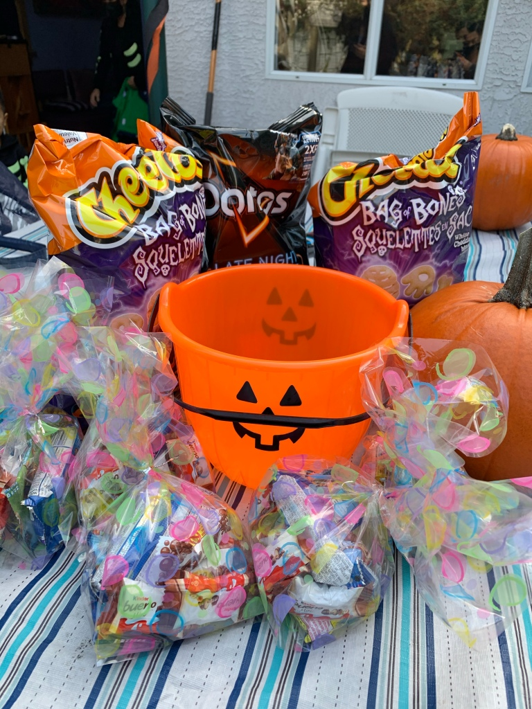 """Pre-packed treat bags (to reduce the need to """"touch"""" things individually)"""